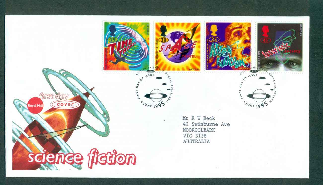 GB 1995 Science Fiction, Edinburgh FDC lot51433