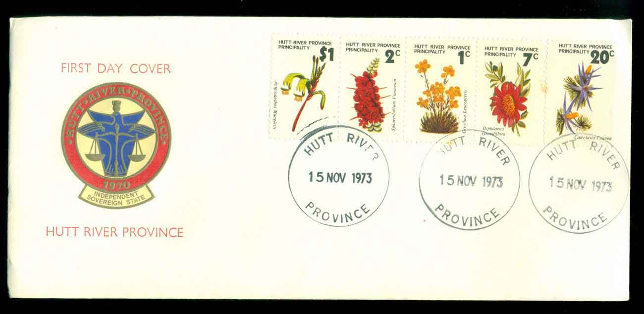 Hutt River Province 1973 Flowers FDC lot51462
