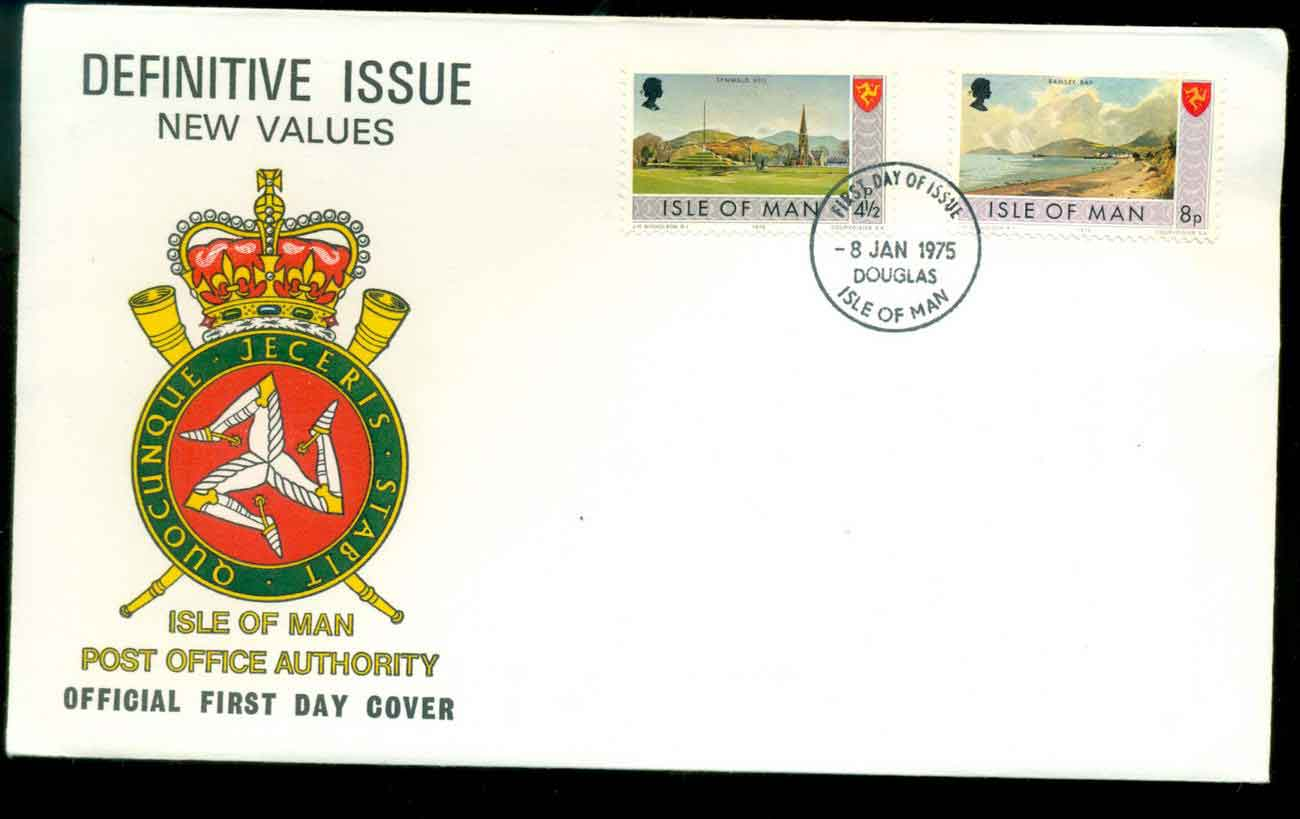 Isle of Man 1975 definitive 4?, 8p FDC lot51466