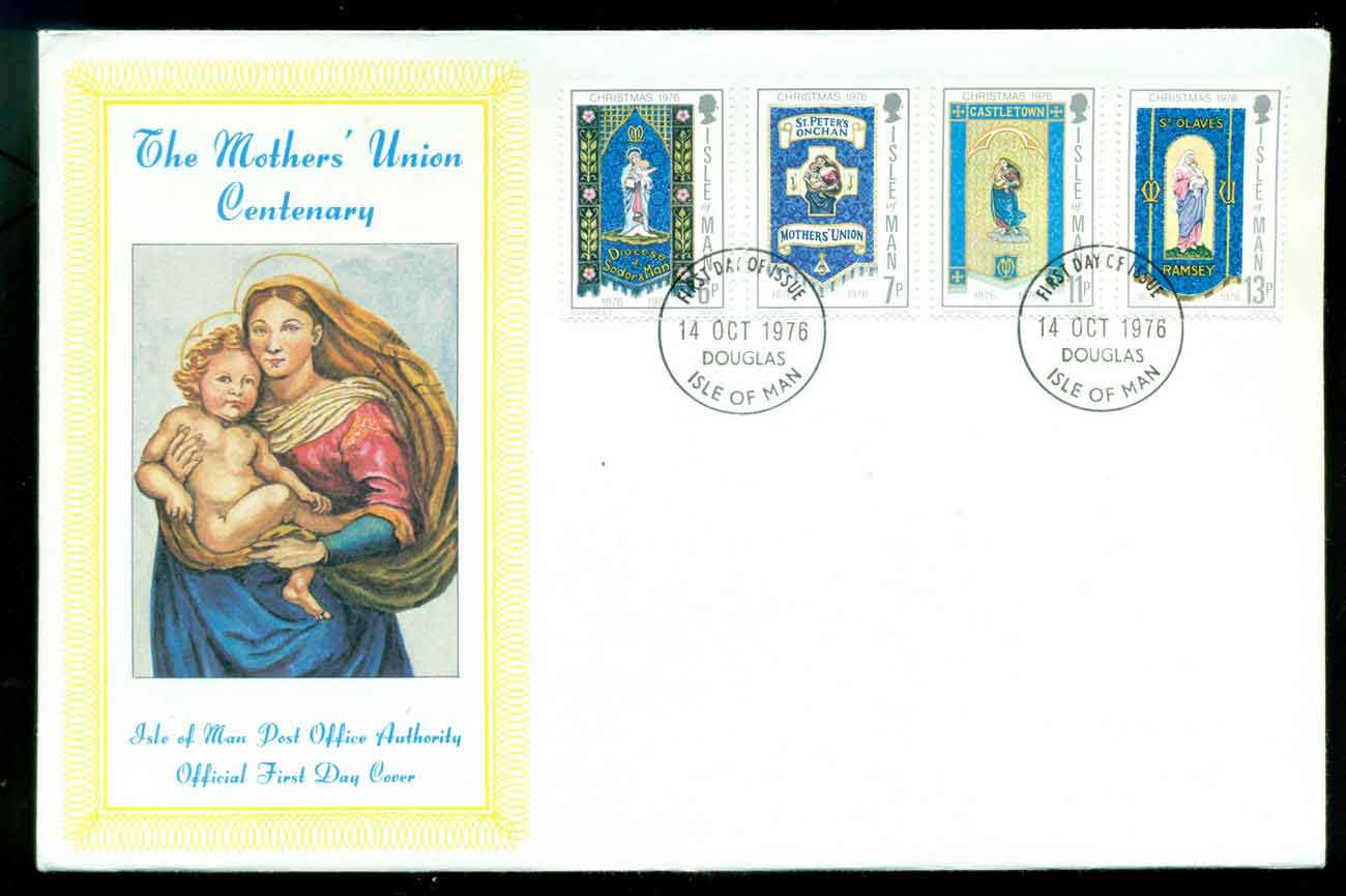 Isle of Man 1976 Mother's Union FDC lot51472