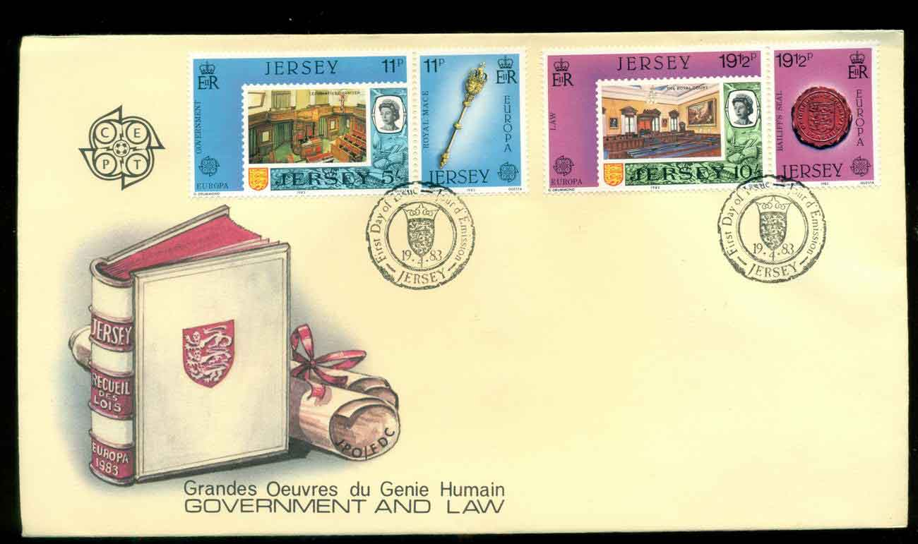 Jersey 1983 Europa Government & Law FDC lot51492