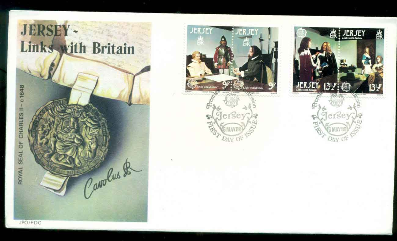 Jersey 1980 Links with Britain FDC lot51495