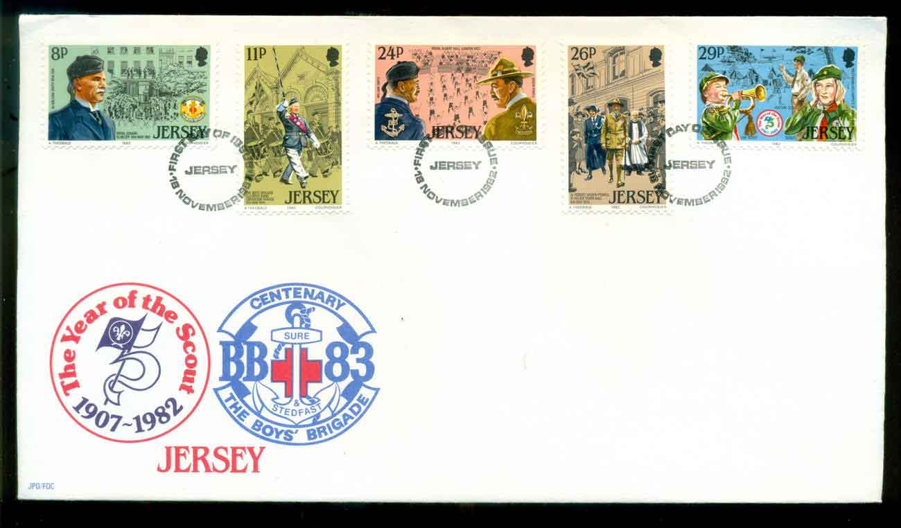 Jersey 1982 Scouting Year FDC lot51501
