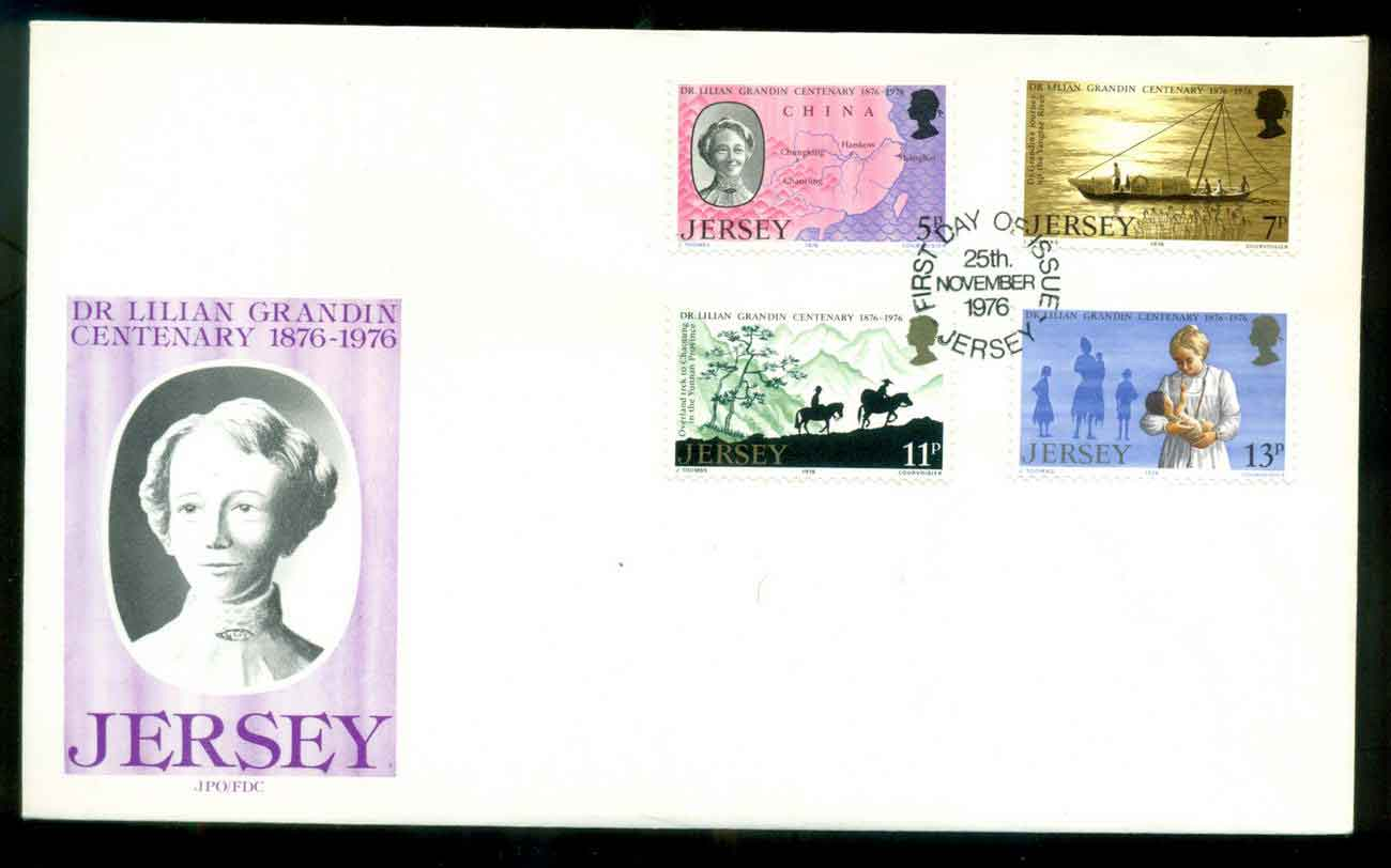 Jersey 1976 Dr. Lillian Grandin FDC lot51503