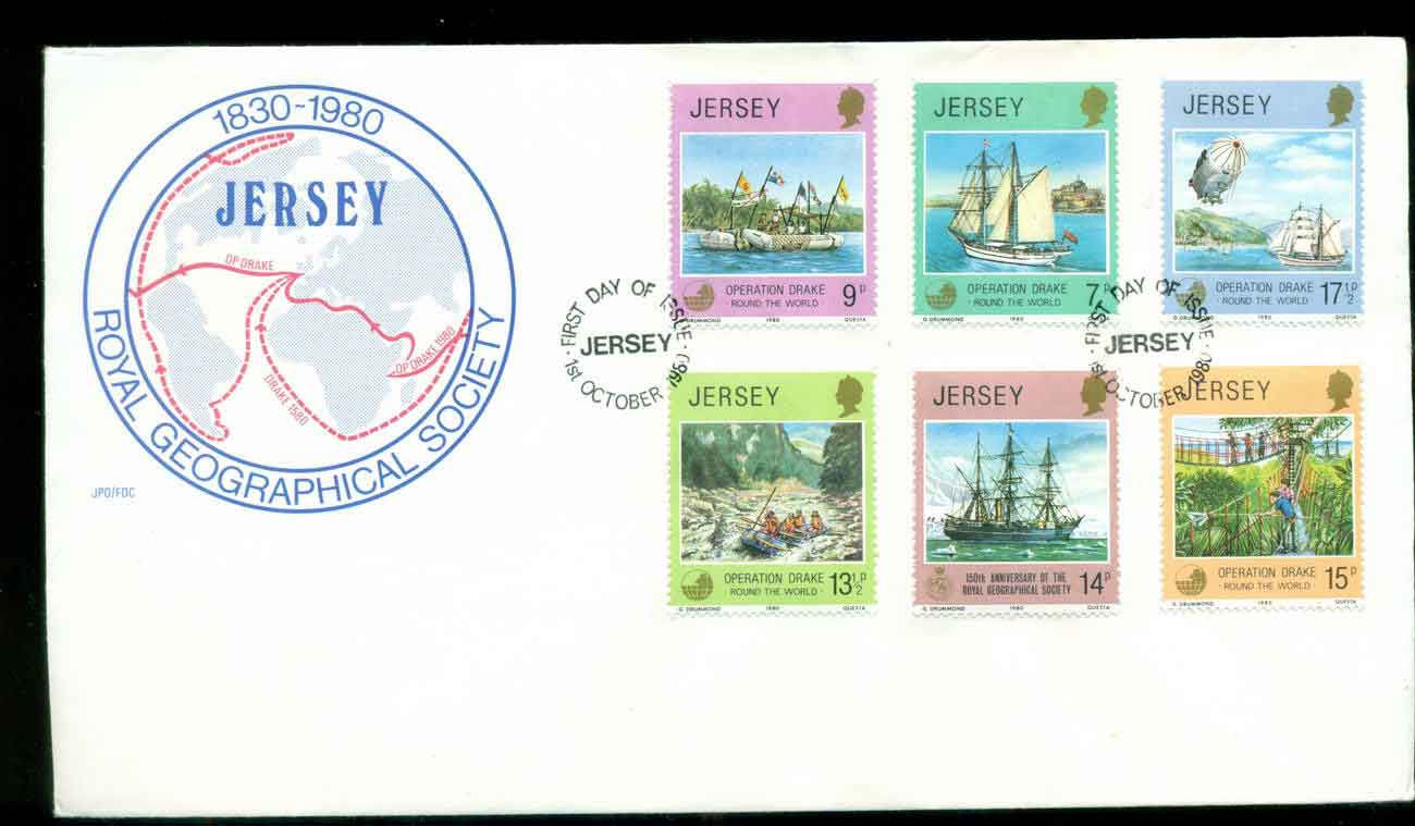 Jersey 1980 Royal Geographical Society FDC lot51504