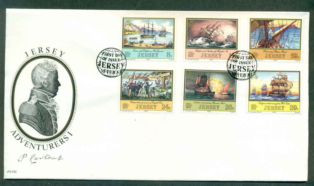 Jersey 1983 Adventurers Pt I FDC lot51505