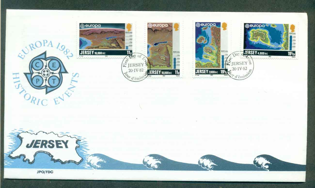 Jersey 1982 Europa, Historic Events FDC lot51511