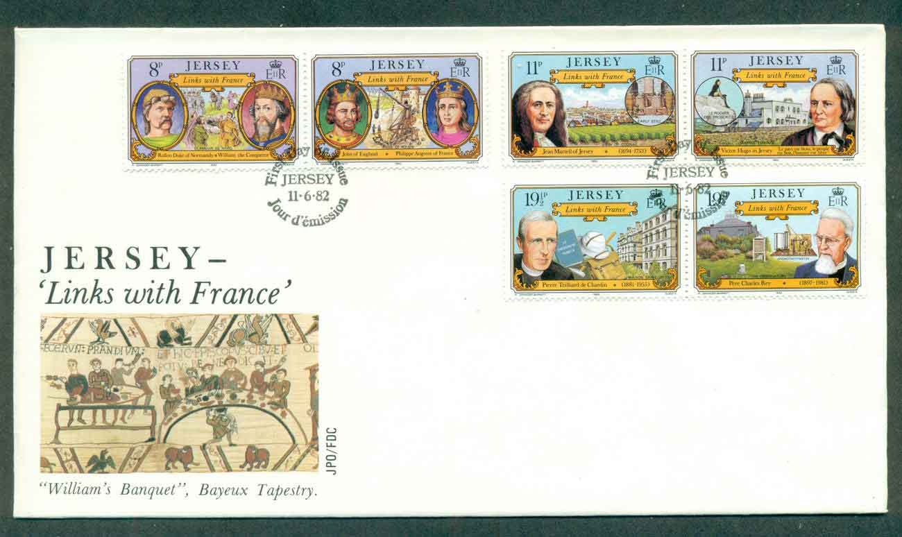 Jersey 1982 Links with France FDC lot51512