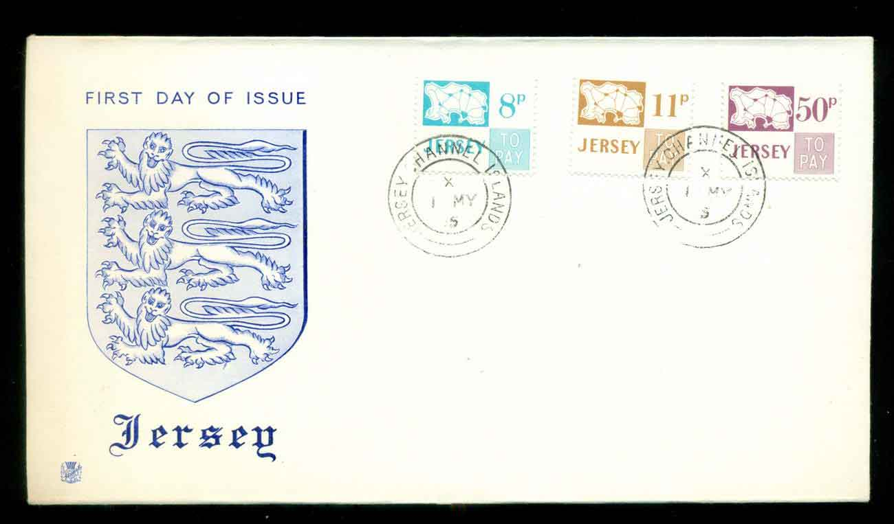 Jersey 1975 Postage Dues, 8,11,50p FDC lot51516