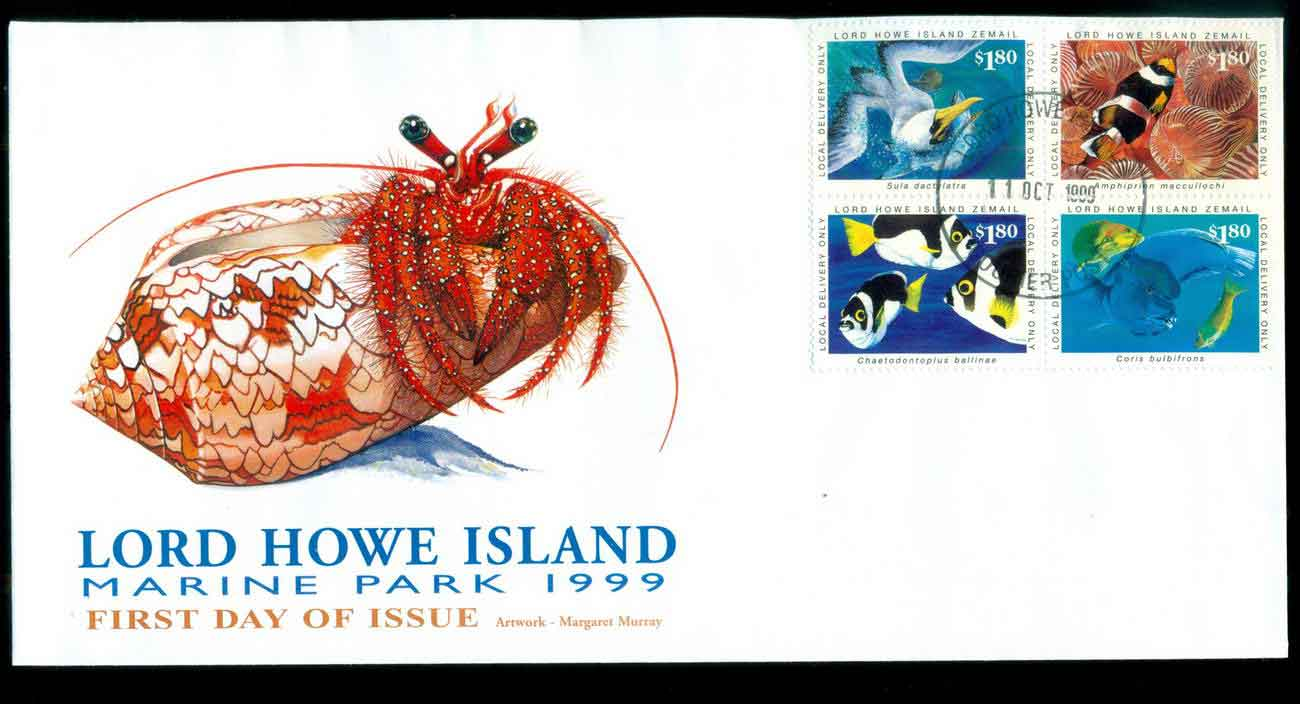 Lord Howe Island 1999 Marine Park Blk 4 FDC lot51531