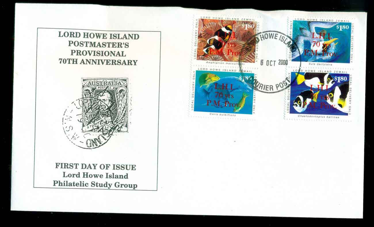 Lord Howe Island 2000 LHIprovisional 70 yrs opt FDC lot51534