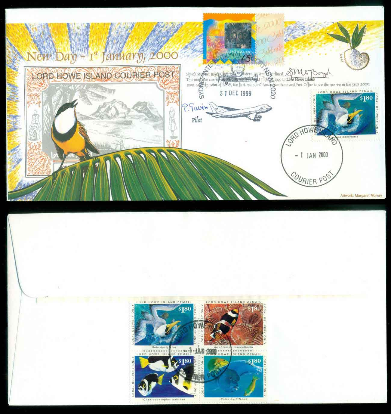 Lord Howe Island 2000 New years day, Pilot signed FDC lot51538