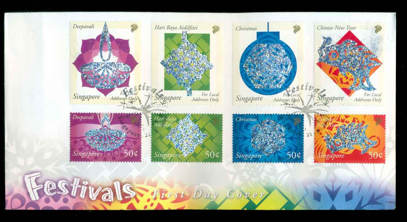 Singapore 2002 Festivals FDC lot51666
