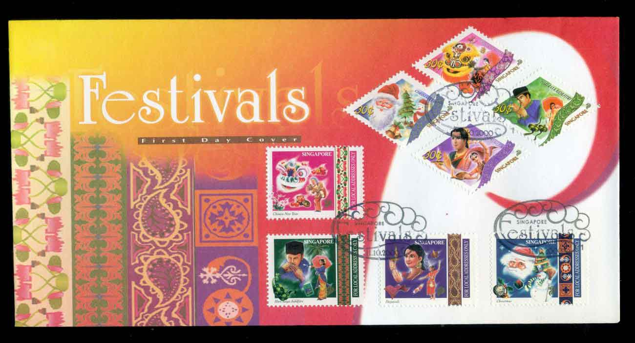 Singapore 2000 Festivals FDC lot51667