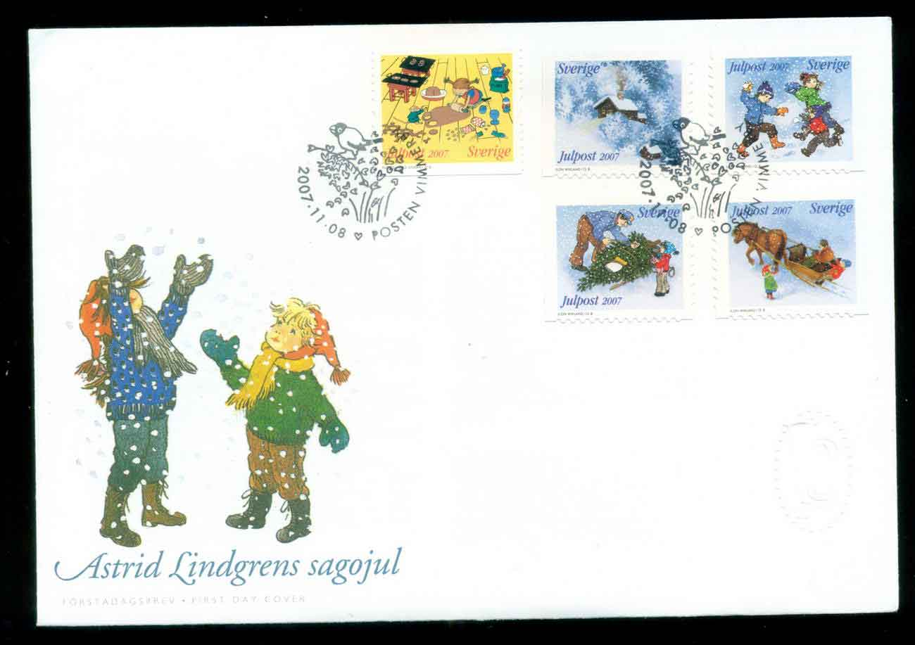 Sweden 2007 Xmas FDC lot51679
