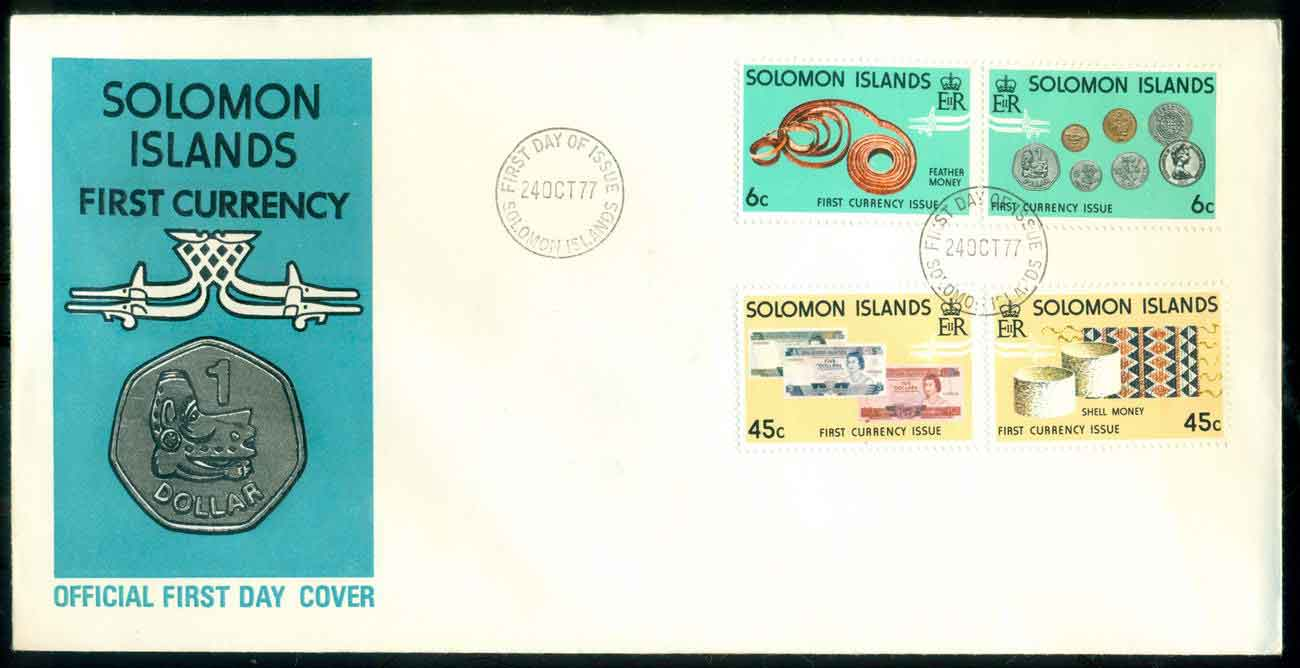 Solomon Is 1977 First Currency FDC lot51689