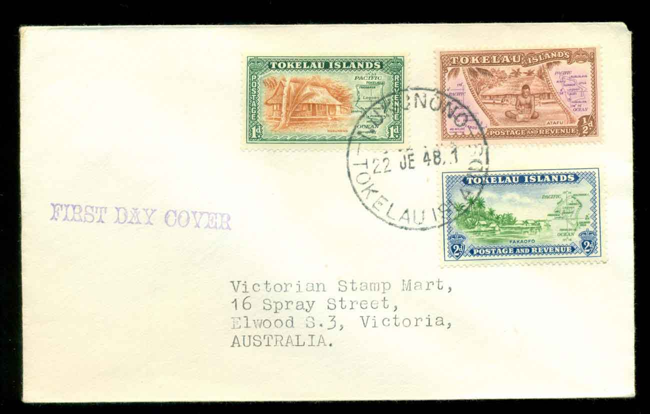 Tokelau Is 1948 First Issue FDC lot51708