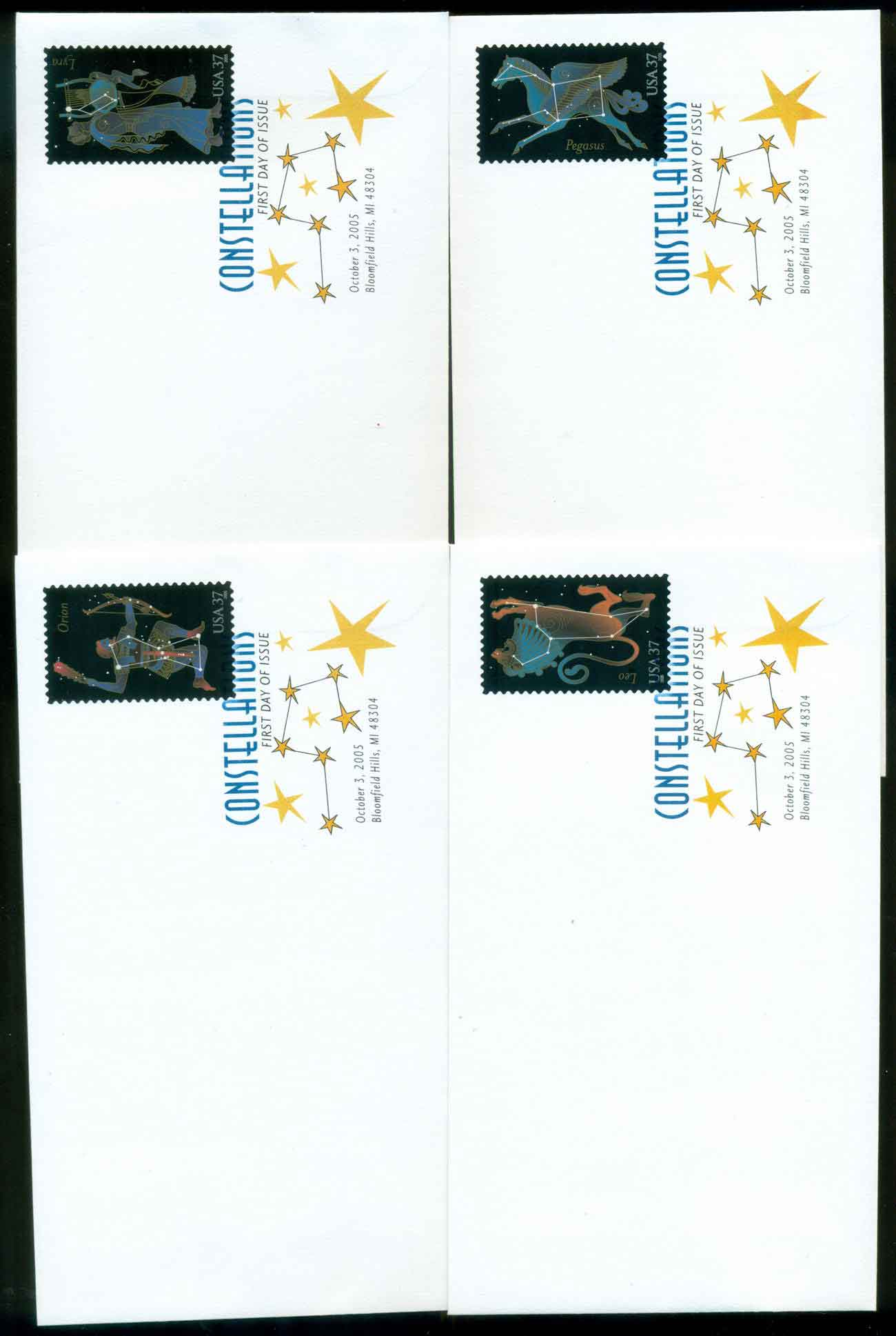 USA 2005 Sc#3945-8 Constellations 4xFDC lot51712