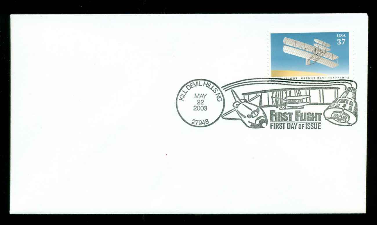 USA 2003 Sc#3783 Wright Bros. FDC lot51713