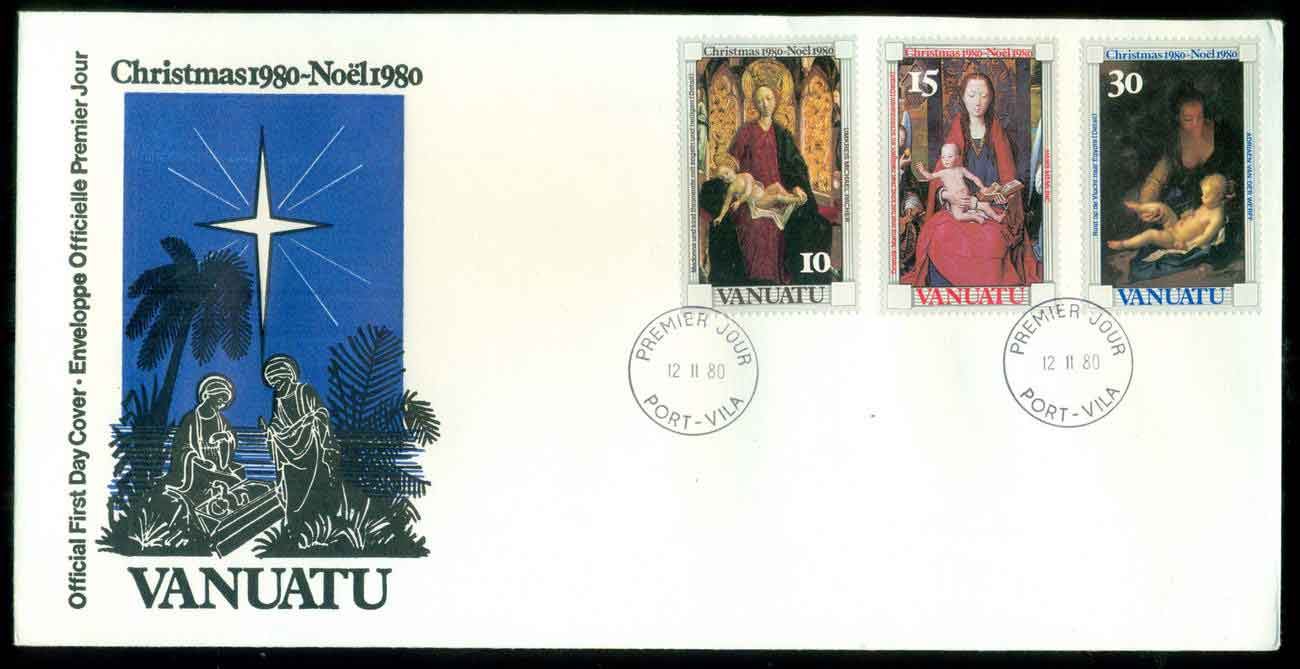 Vanuatu 1980 Xmas FDC lot51720 - Click Image to Close