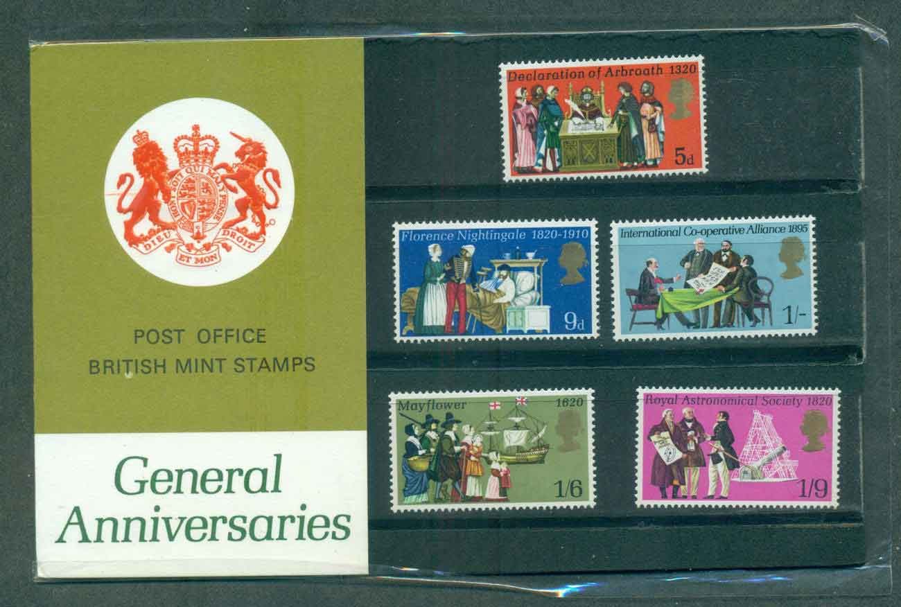 GB 1970 General Anniversaries POP lot51748