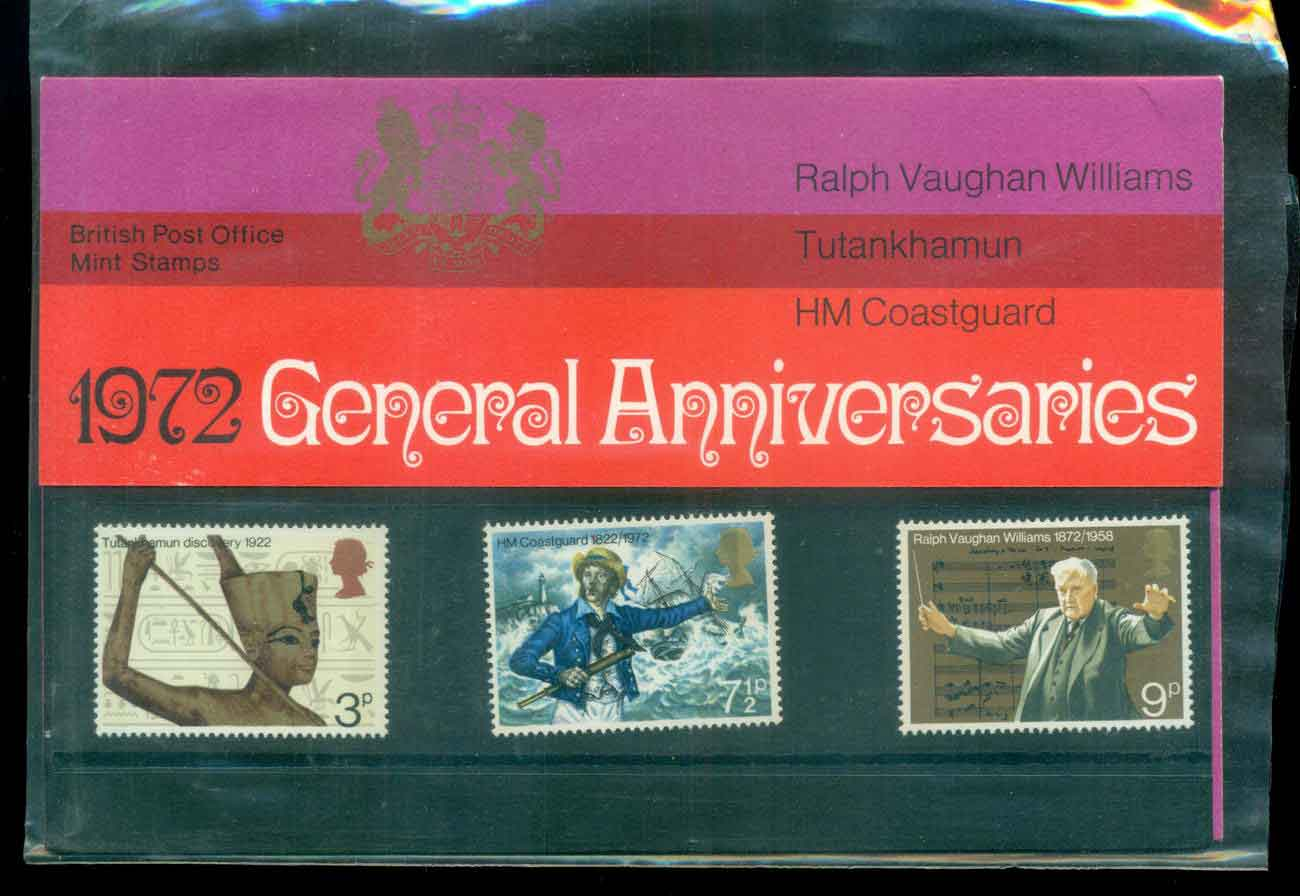 GB 1972 general Anniv. POP lot51755