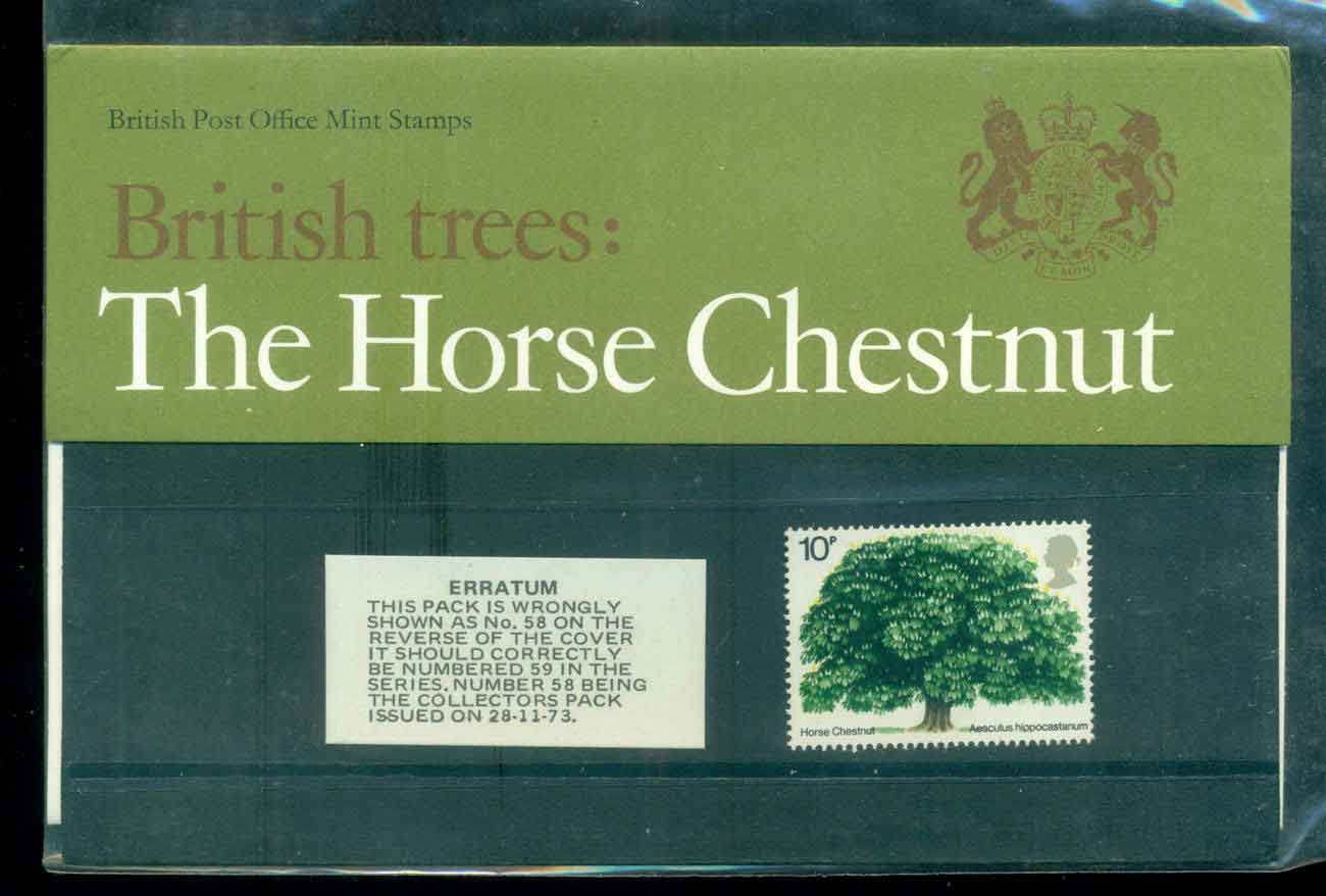 GB 1974 Chestnut Tree POP lot51756