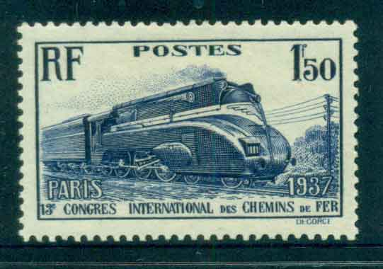 France 1937 1.50 fr Train MLH lot51917