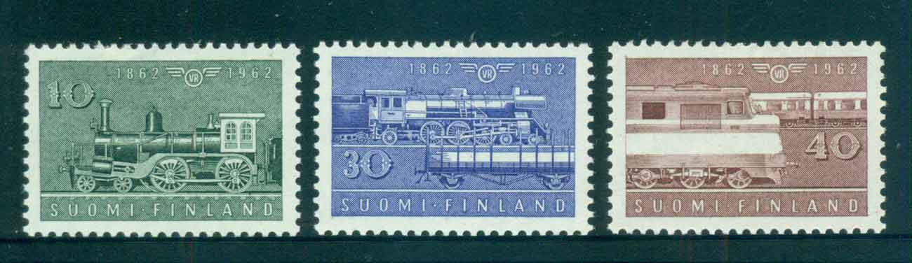 Finland 1962 State Railways Trains MLH lot51926