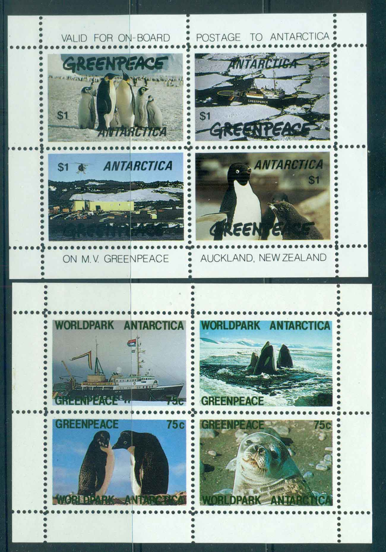 New Zealand 1990s ? Greenpeace 2x MS MUHlot52145