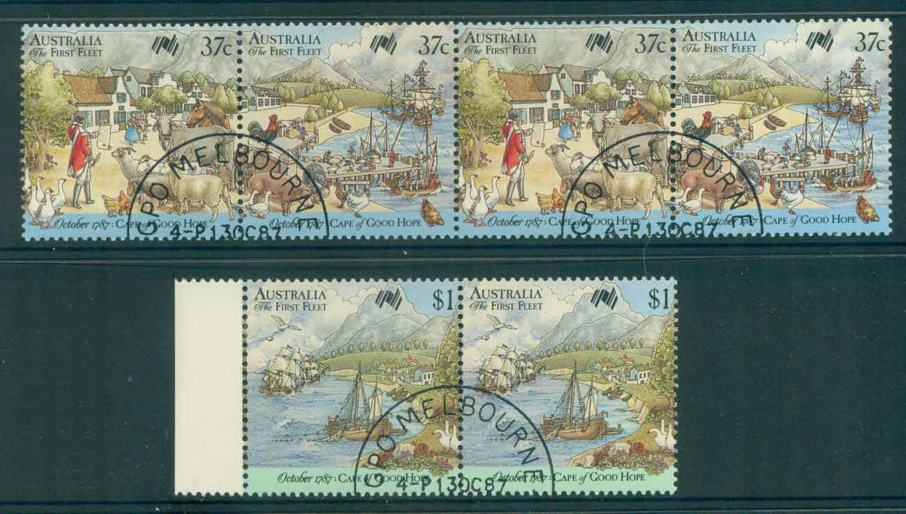 Australia 1987 First Fleet Cape of Good Hope Pairs CTO lot52203