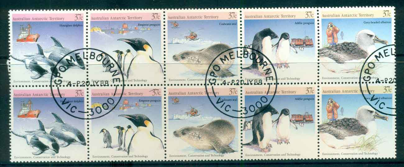 AAT 1988 Environment Wildlife 2xSrt 5 CTO lot52228