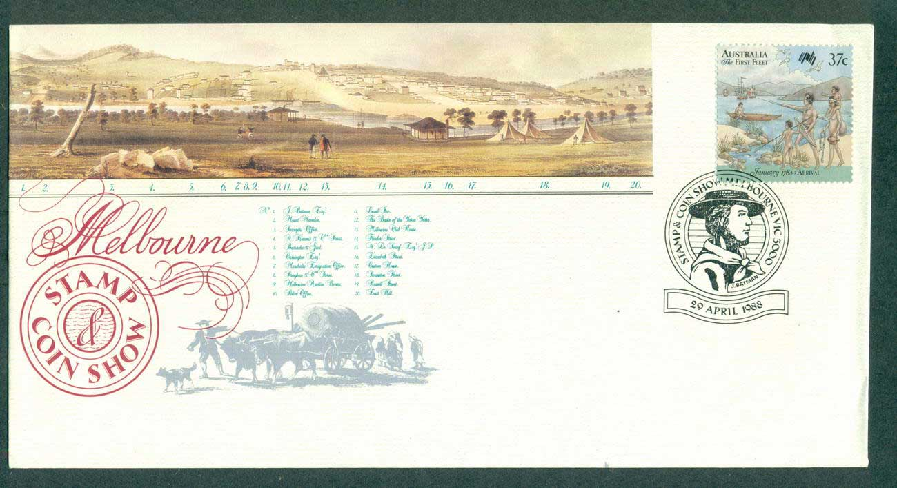 Australia 1988 Melbourne Stamp & Coin Show FDC lot52343