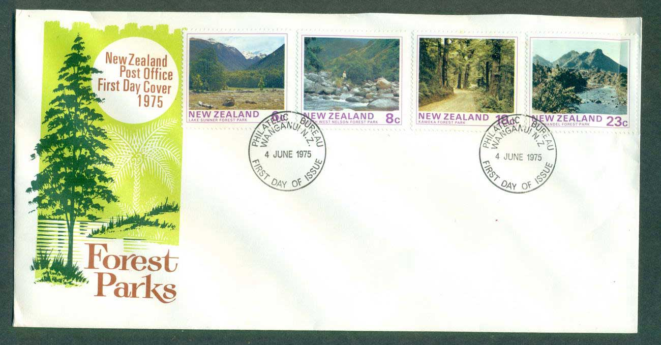 New Zealand 1975 Forest parks FDC lot52663