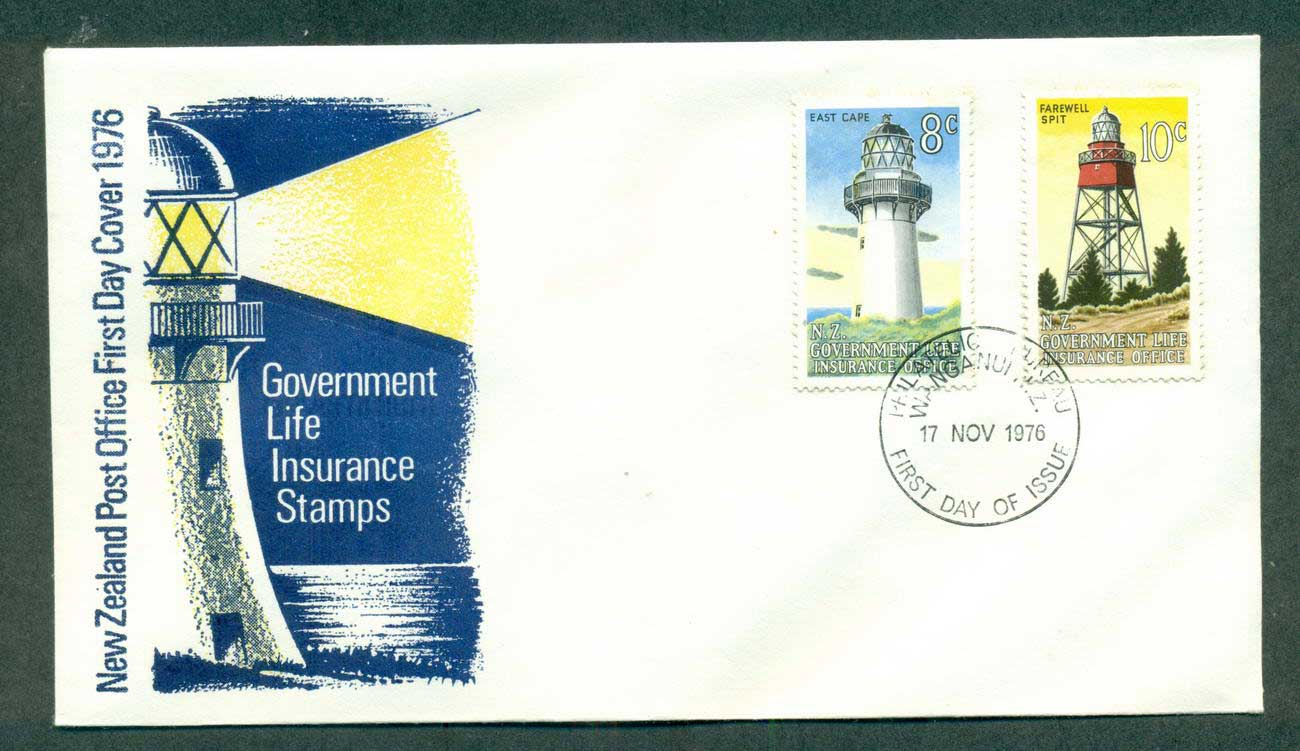 New Zealand 1976 Insurance, Light Houses (tones) FDC lot52669
