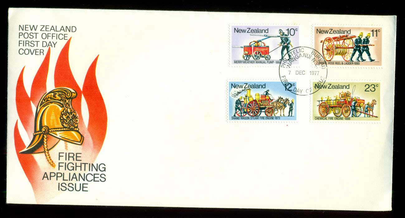 New Zealand 1977 Fire Fighting Appliances FDC lot52674