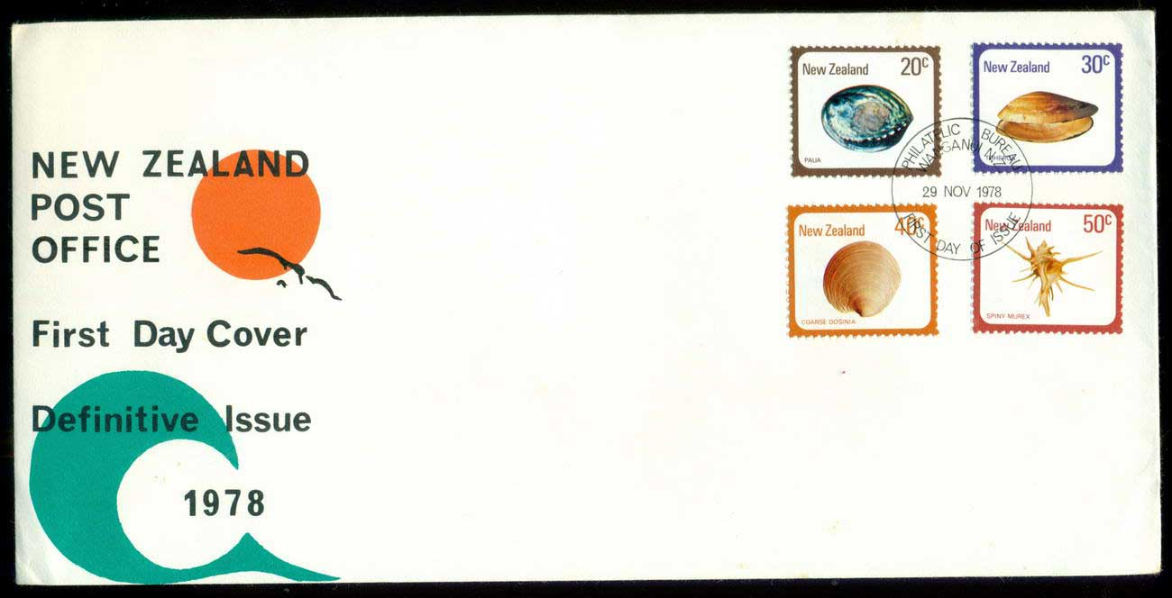 New Zealand 1978 Definitives, 20,30,40,50c FDC lot52679