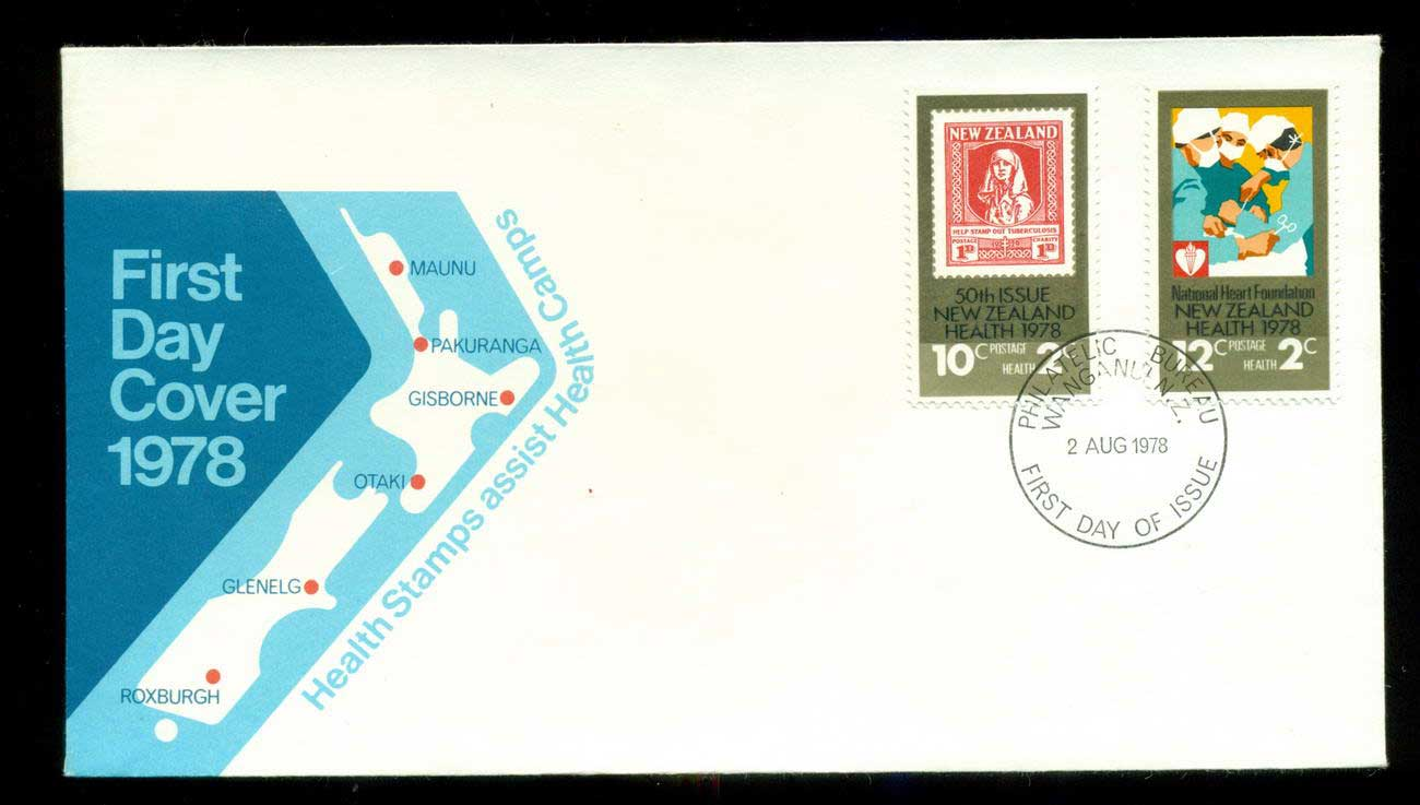 New Zealand 1978 Health, Stamps FDC lot52682