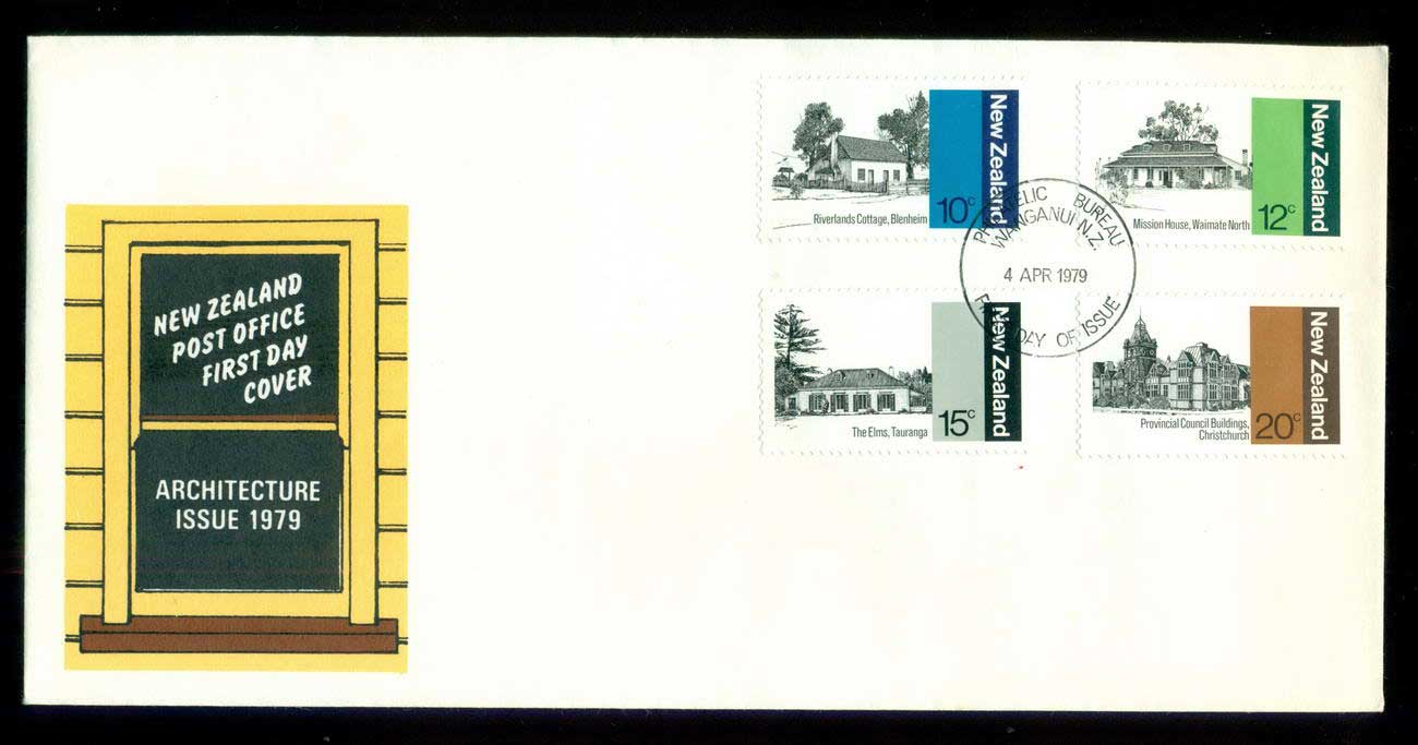 New Zealand 1979 Architecture FDC lot52691