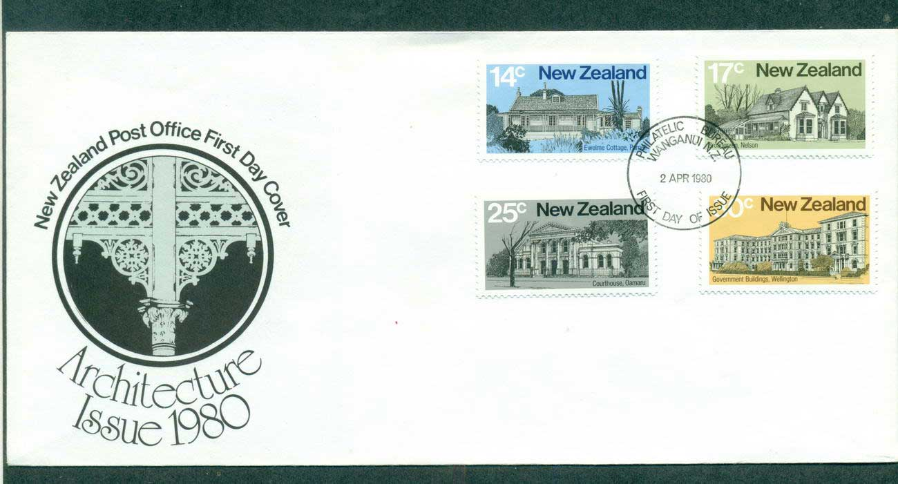 New Zealand 1980 Architecture FDC lot52697
