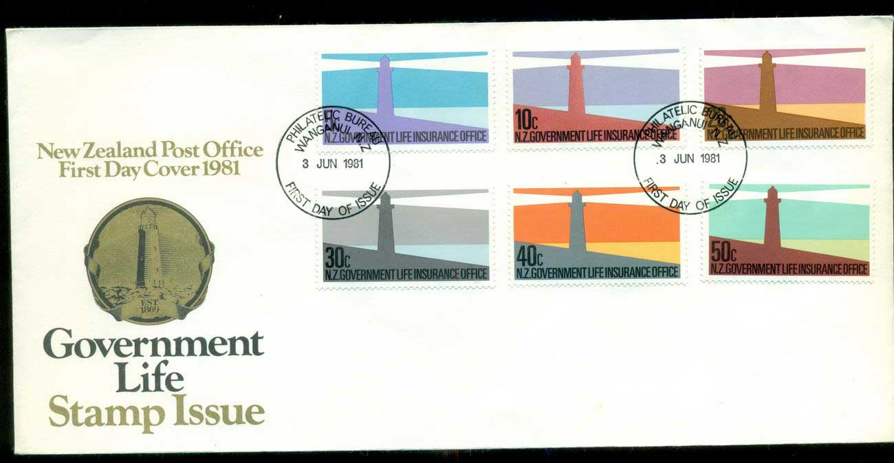 New Zealand 1981 Insurance, Lighthouses FDC lot52700