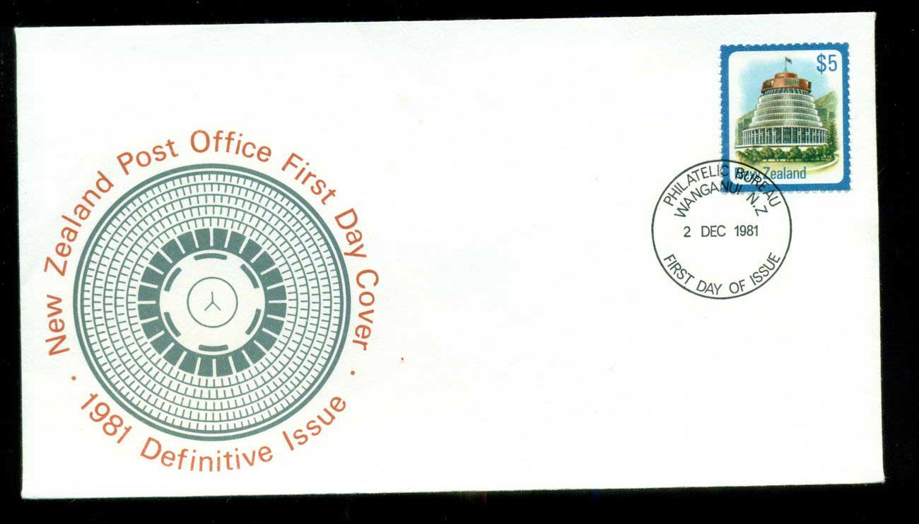 New Zealand 1981 Definitive $5 FDC lot52703