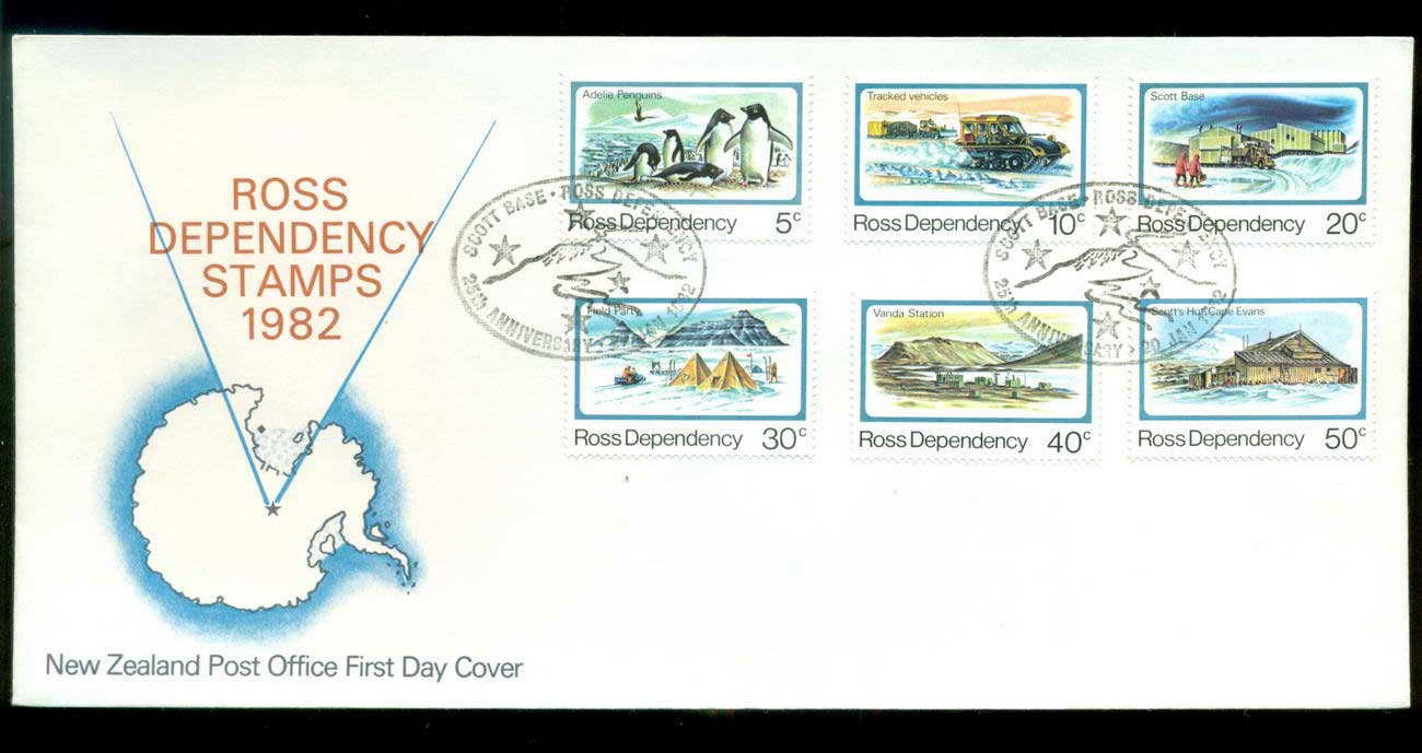 Ross Dependency 1982 Antarctic Scenes FDC lot52883