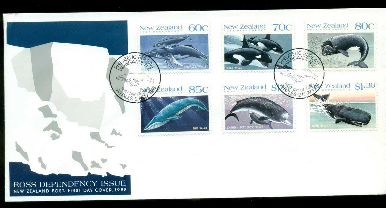 Ross Dependency 1988 Whales FDC lot52884