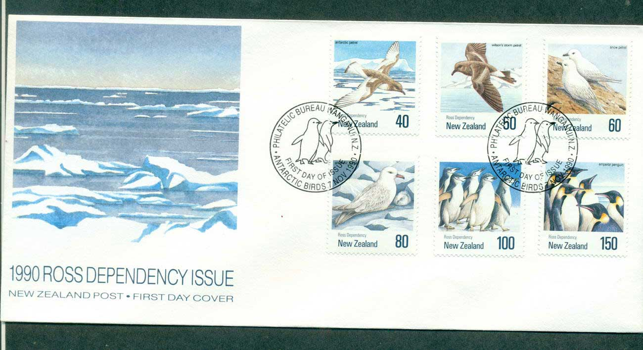 Ross Dependency 1990 Antarctic Birds FDC lot52885