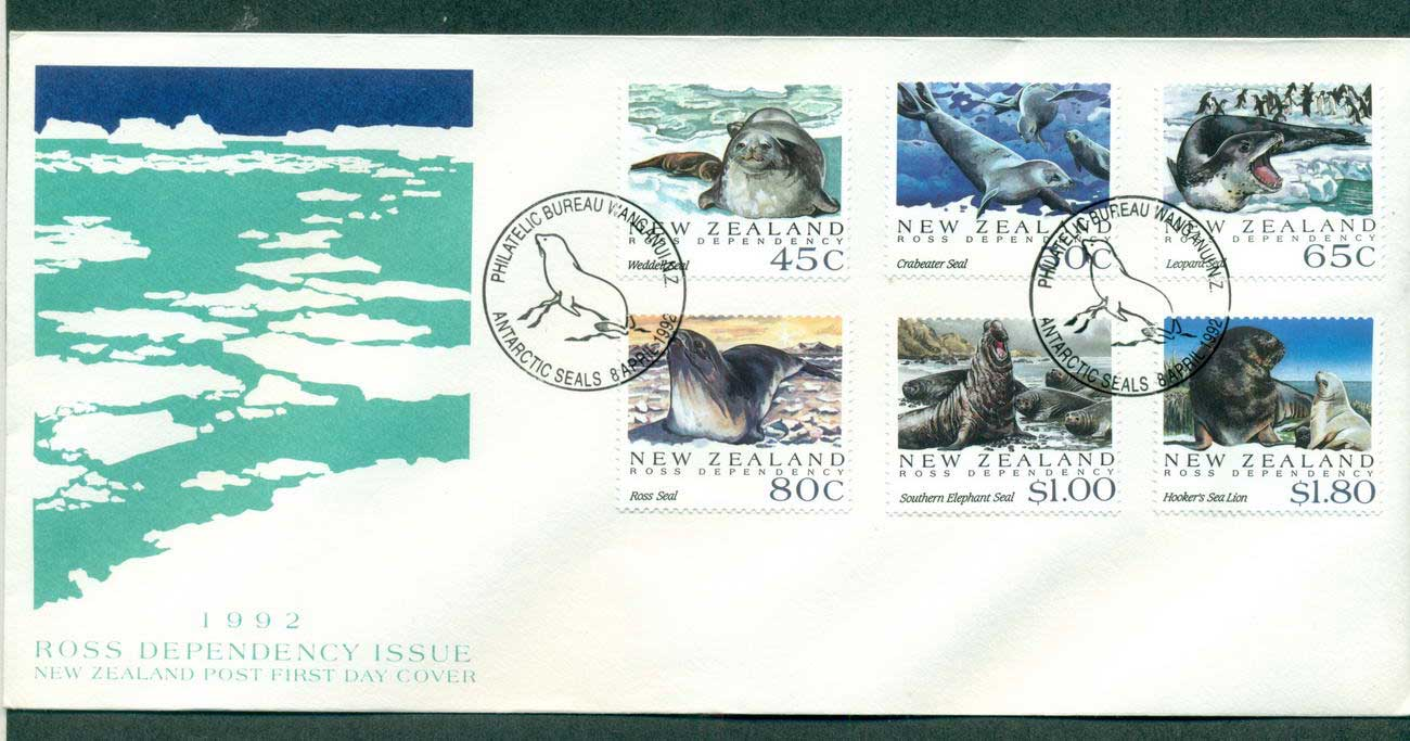 Ross Dependency 1992 Sealions FDC lot52886 - Click Image to Close