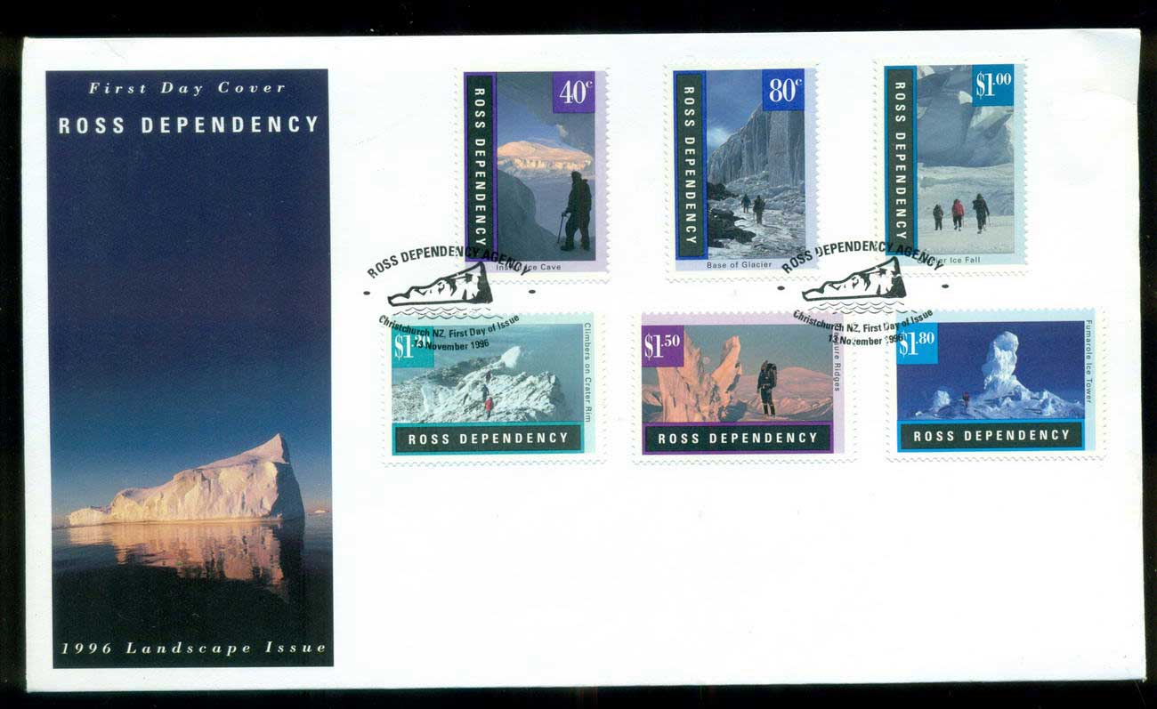 Ross Dependency 1996 Antarctic Landscapes FDC lot52888