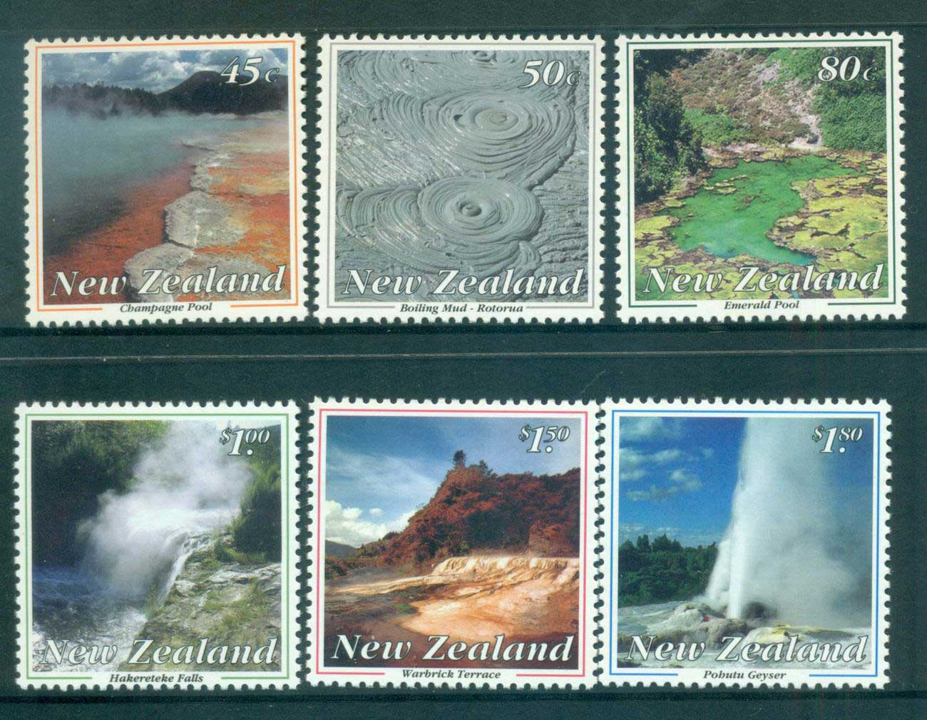 New Zealand 1993 Thermal Wonders MUH lot53174
