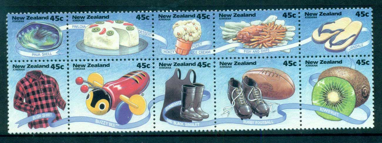 New Zealand 1994 Kiwiana Booklet pane 10 MUH lot53185