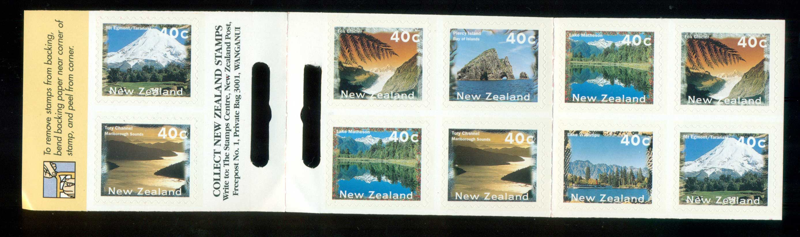 New Zealand 1996 Scenic Views P&S Booklet MUH lot53213